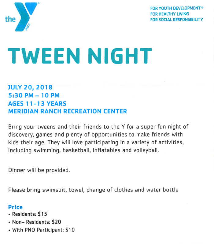 Tween Night