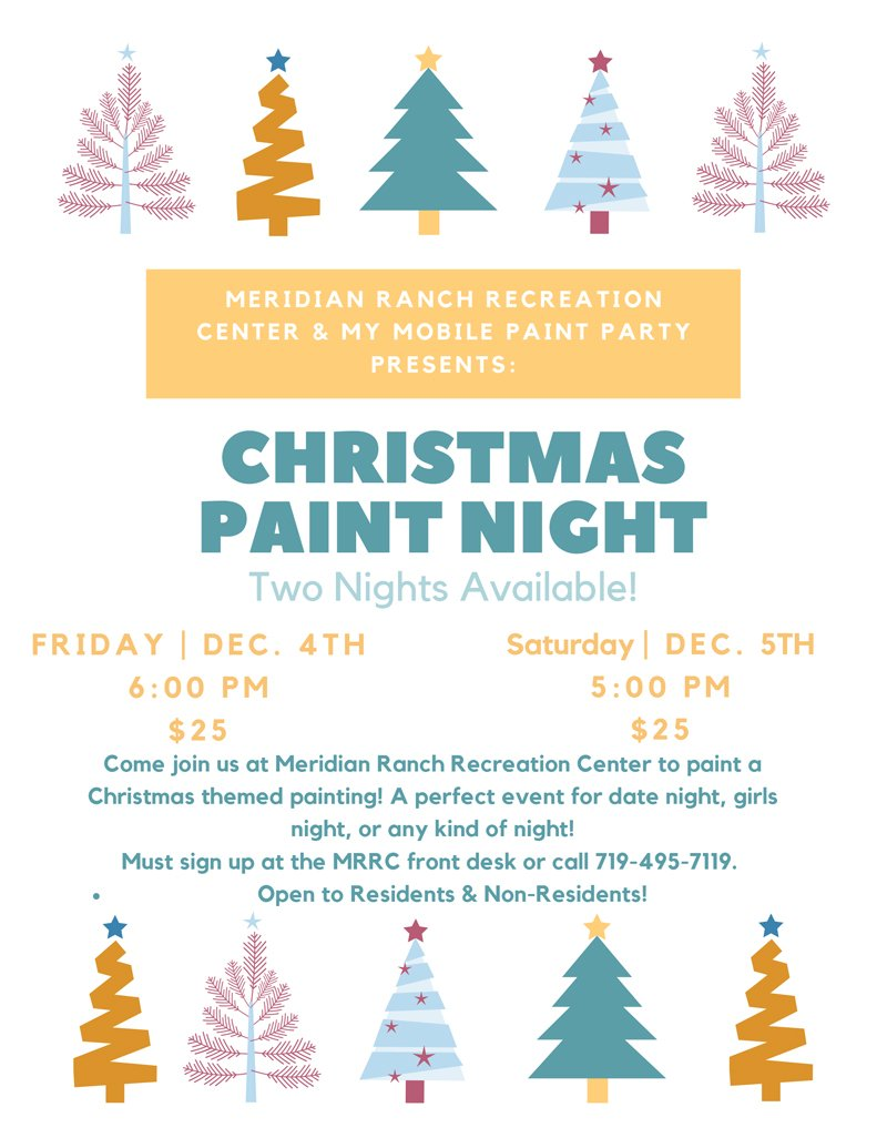 Meridian Ranch Recreation Center & My Mobile Paint Party Present